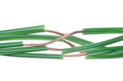 Zielona energia, miedziany kabel Obrazy Stock