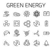 Zielona energia - powiązany wektorowy ikona set royalty ilustracja