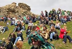 zielona festiwal dźwigarka zdjęcie stock