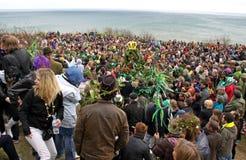 zielona festiwal dźwigarka fotografia stock