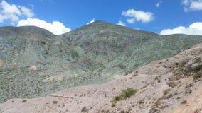 Zielona góra na purmamarca, Argentina zdjęcia royalty free