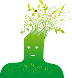 zielona głowy Zdjęcie Royalty Free