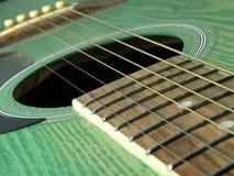 zielona gitara Fotografia Stock