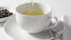 zielona gorąca herbata zdjęcie wideo