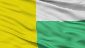 Zielona Gora City Flag, Polônia, opinião do close up Ilustração Royalty Free