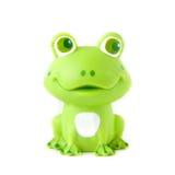 Zielona gumowa żaba Zdjęcie Stock