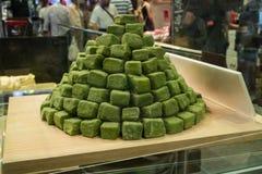 Zielona herbata cukierek przy Nishiki rynkiem Fotografia Stock