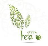 Zielona herbata liść Obraz Royalty Free