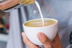Zielona herbata sztuka Zdjęcia Royalty Free