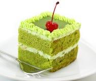 Zielona herbata tort Zdjęcia Stock