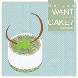 Zielona Herbata tort Zdjęcia Royalty Free