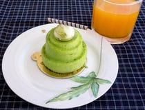 Zielona herbata tort Zdjęcie Stock