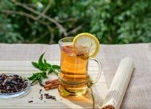 Zielona herbata z Goji mennicą i jagodami Zdjęcie Stock