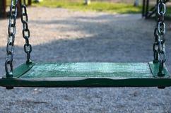 Zielona huśtawka Fotografia Stock