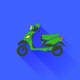 Zielona hulajnoga sylwetka Obraz Royalty Free