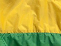 Zielona i żółta tekstylna tekstura z ściegiem Fotografia Stock