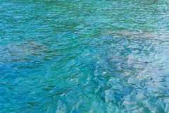 Zielona i błękitna woda morska Fotografia Stock