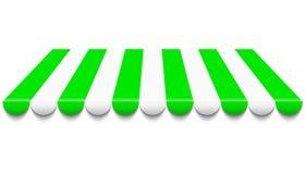 Zielona i biały markiza ilustracji