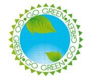 zielona idzie etykietka Zdjęcia Stock
