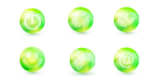 Zielona ikona ilustracja wektor
