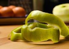 Zielona Jabłczana skóra Zdjęcie Stock