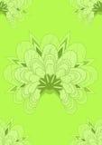 zielona japońska bezszwowa tapeta Obrazy Stock