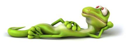 zielona jaszczurka royalty ilustracja