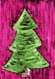 Zielona jodła Zdjęcie Stock