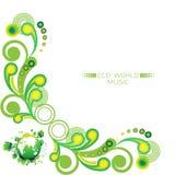 Zielona kąt rama Zdjęcie Stock
