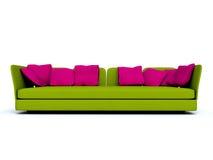 zielona kanapa Zdjęcie Stock