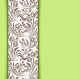 Zielona karta z kwiecistym wzorem. Obrazy Stock