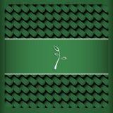 Zielona karta z liść herbatą Fotografia Royalty Free