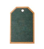 Zielona kartonowa ceny etykietki notatka Obrazy Stock