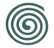 Zielona komar spirala obrazy stock