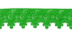 zielona koronka obrazy stock
