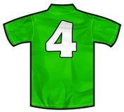 Zielona koszula cztery Zdjęcie Stock