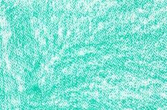 Zielona kredkowych rysunków tła tekstura Obraz Stock