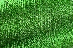 zielona kruszcowa deseniowa cewa Obraz Stock