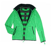 Zielona kurtka zdjęcia royalty free