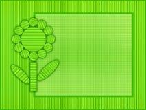 Zielona kwiat rama Zdjęcia Royalty Free