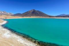Zielona laguna, Chile (Laguna Verde) Zdjęcia Royalty Free