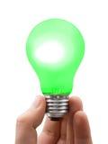 zielona lampa ręce Obraz Royalty Free