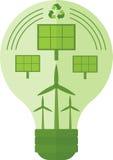 Zielona lampa z władzą Zdjęcie Royalty Free