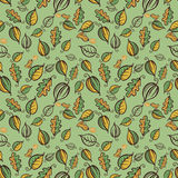 Zielona lasowa bezszwowa deseniowa wektorowa ilustracja Zdjęcia Stock