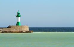 zielona latarnia morska Obrazy Royalty Free
