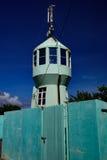 zielona latarnia morska Fotografia Royalty Free