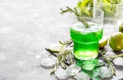 Zielona lemoniada Obrazy Stock