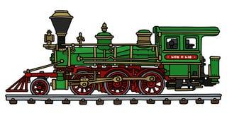 zielona lokomotoryczna stara kontrpara Obraz Stock