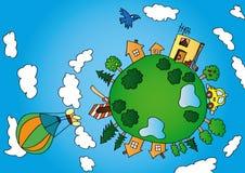 zielona mała planeta Obrazy Stock