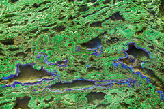 Zielona malachitowa kopalina Obrazy Stock
